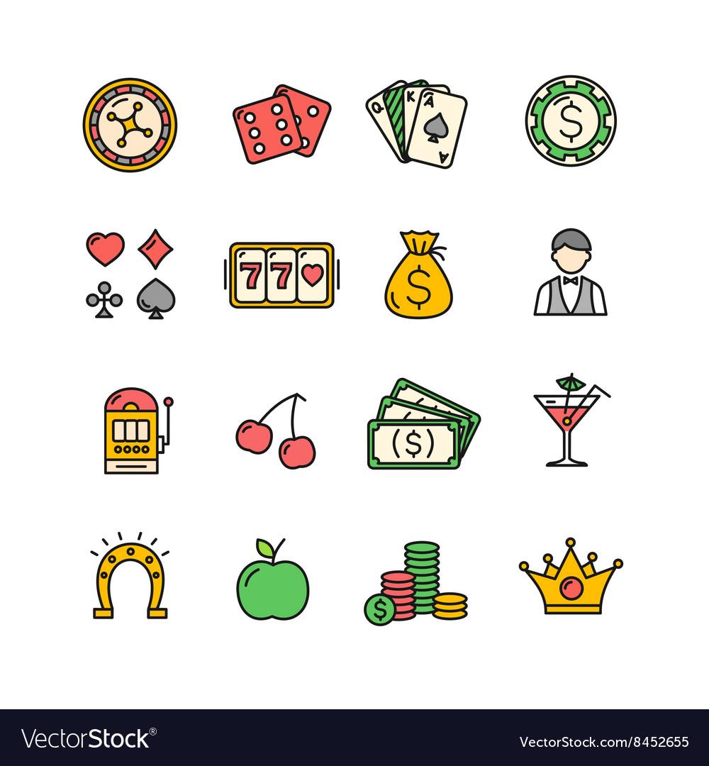 Casino Icon Color Set