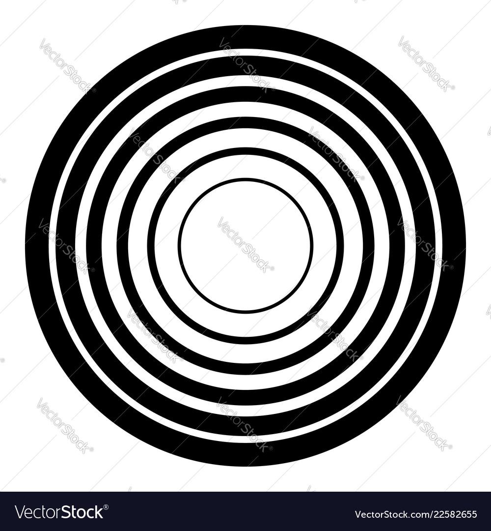 Concentric circles geometric element radial