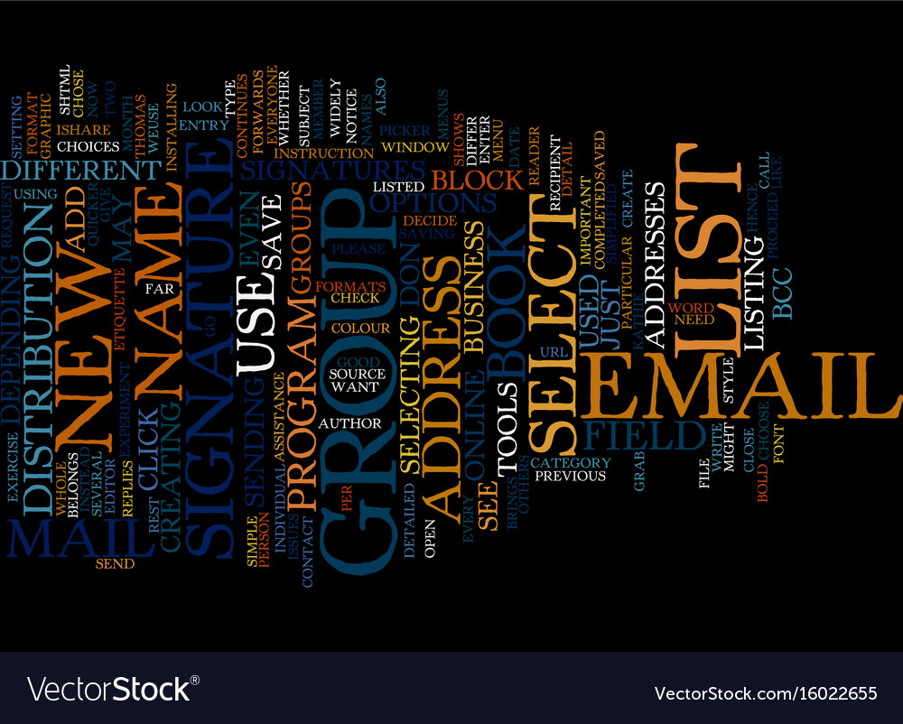 Email etiquette text background word cloud concept vector image