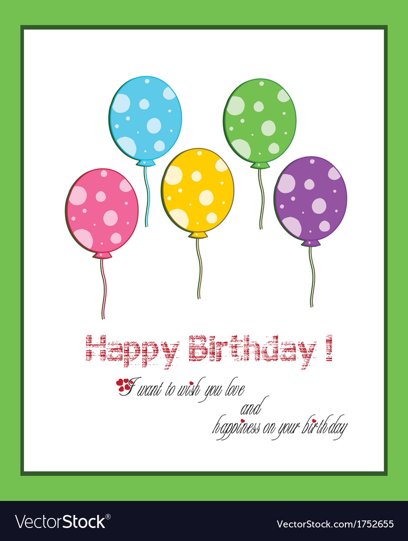 Happy Birthday Balloon Five Year Old Vector Image