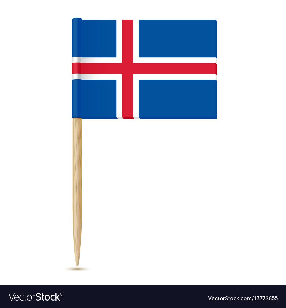Iceland flag toothpick 10eps