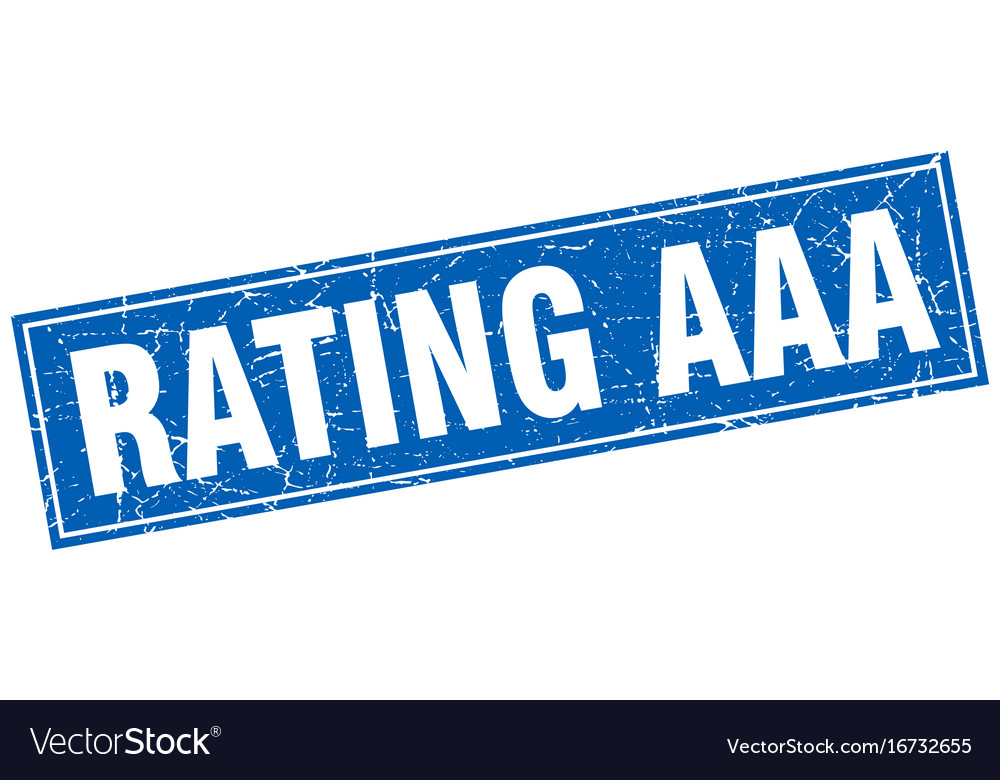 Rating aaa blue square grunge stamp on white vector image