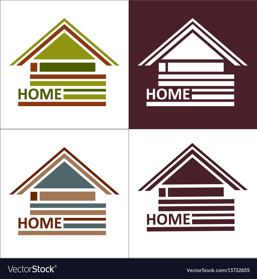 Real estate symbols - roofs of houses and