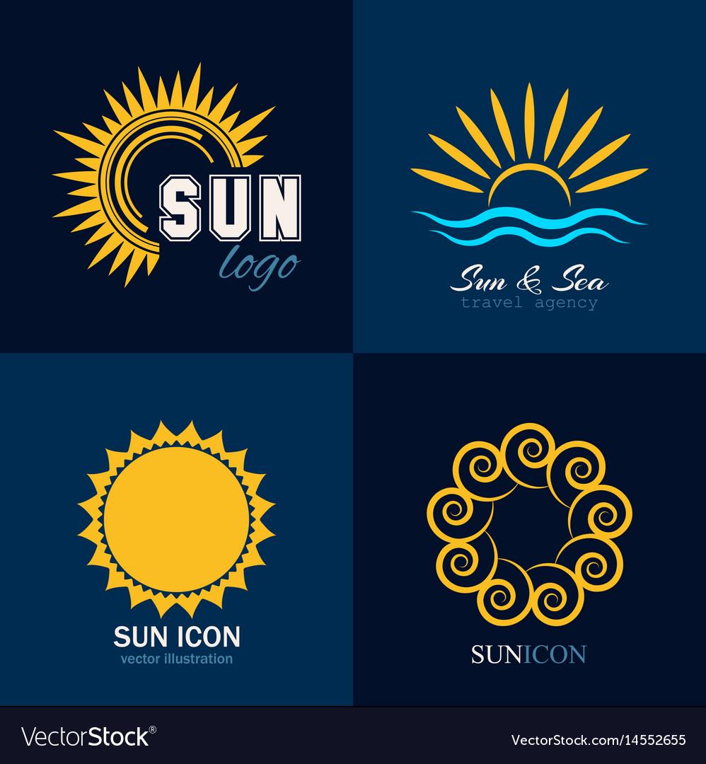 Sun icon logo collection