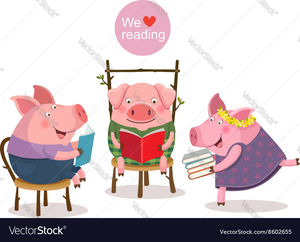 Three, Little & Pigs Vector Images (86)