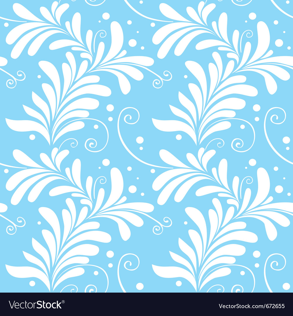 Winter ornamental floral seamless pattern light bl