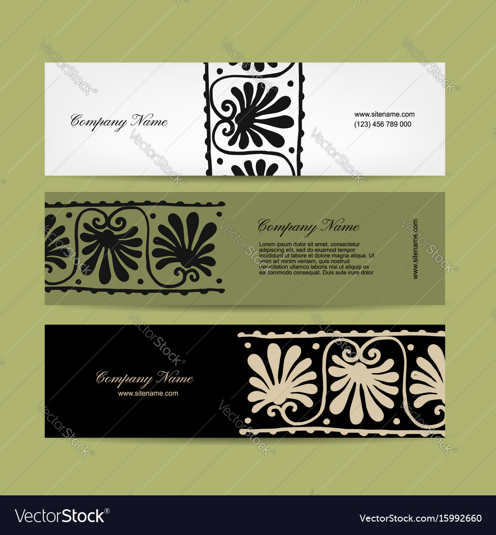 Banners design ethnic floral ornament