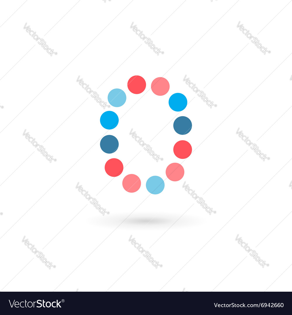 Letter O number 0 logo icon design template