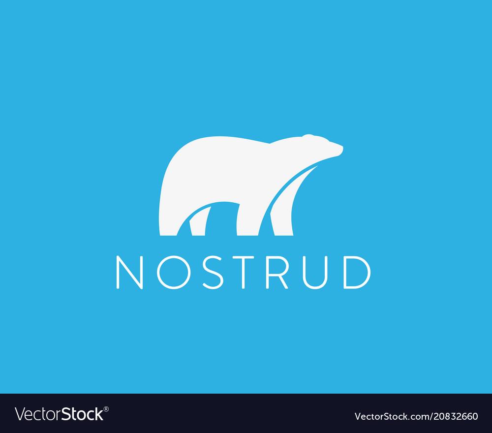 Polar bear logo animal icon logotype