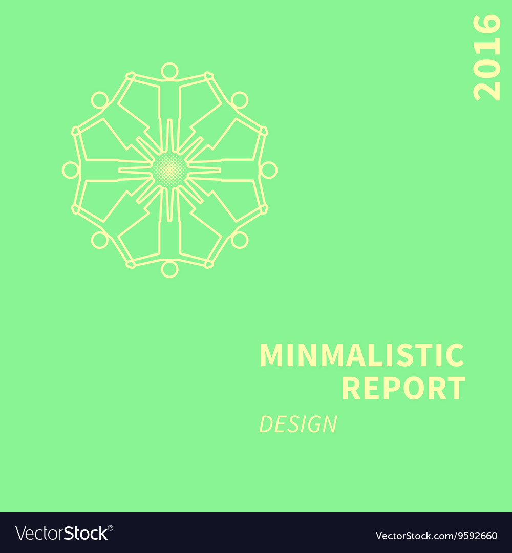 Report cover vector image