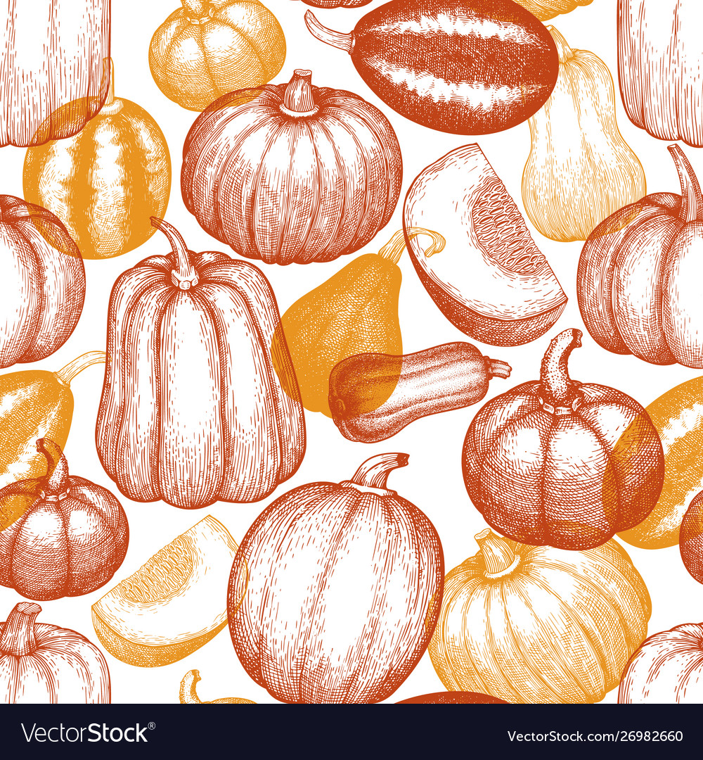 Thanksgiving day and halloween seamless pattern