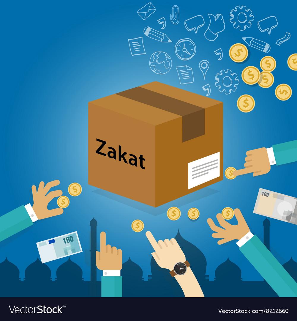 Zakat giving money to the poor islam concept