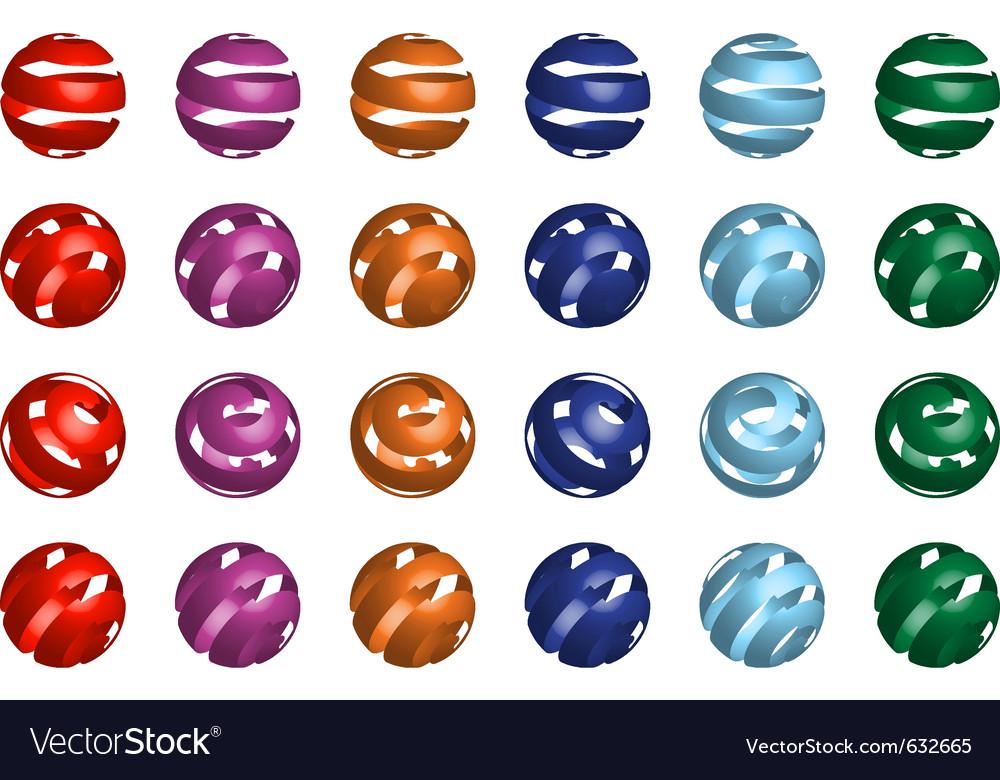 3d ball set vector image