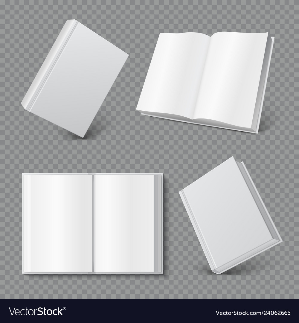 Book Cover Mockup Realistic Blank Booklet Cover