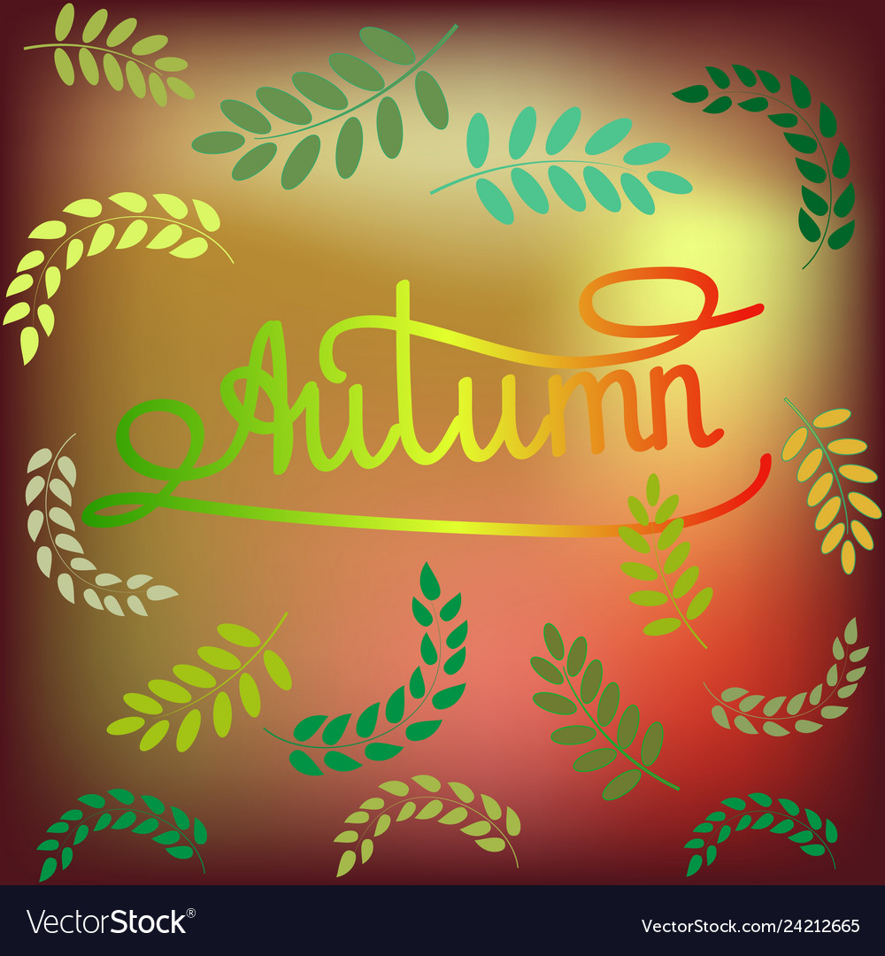 Card with quote autumn girl fashion stylish print