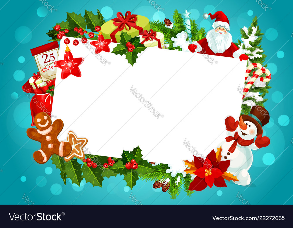 Christmas Greeting Cards Images.Christmas Greeting Card Empty Blank Frame
