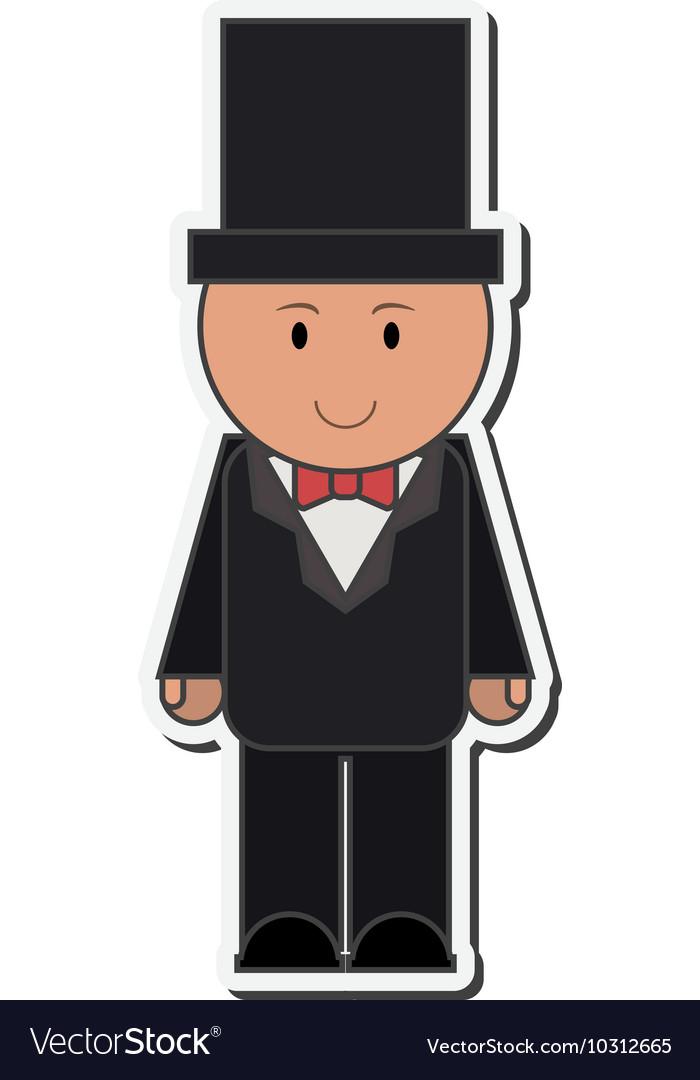 Happy groom icon vector image