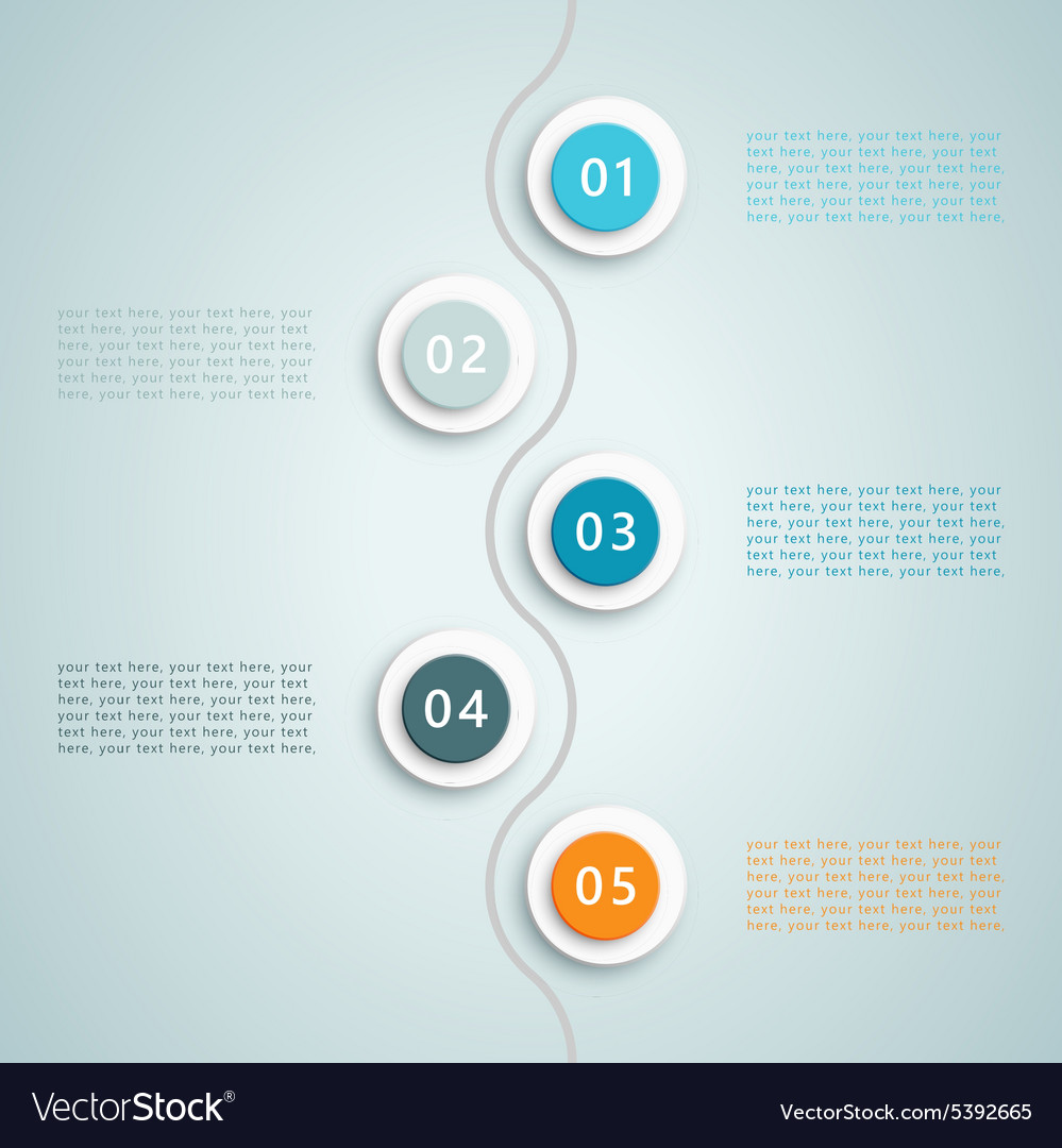 Number steps infographic 6