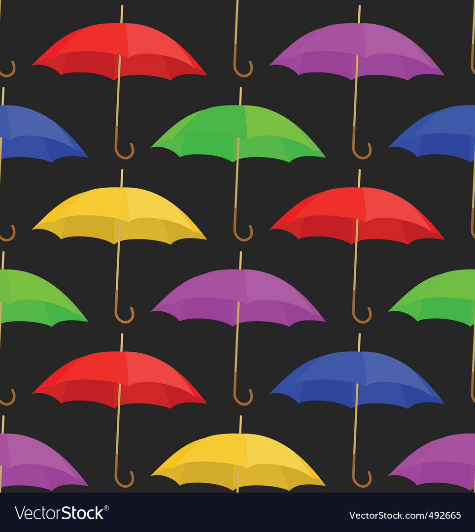 Seamless a background with umbrellas