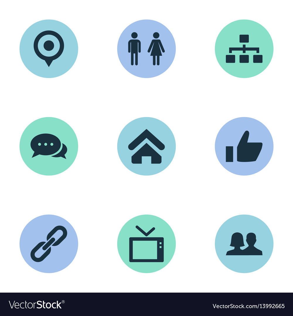 Set of simple network icons