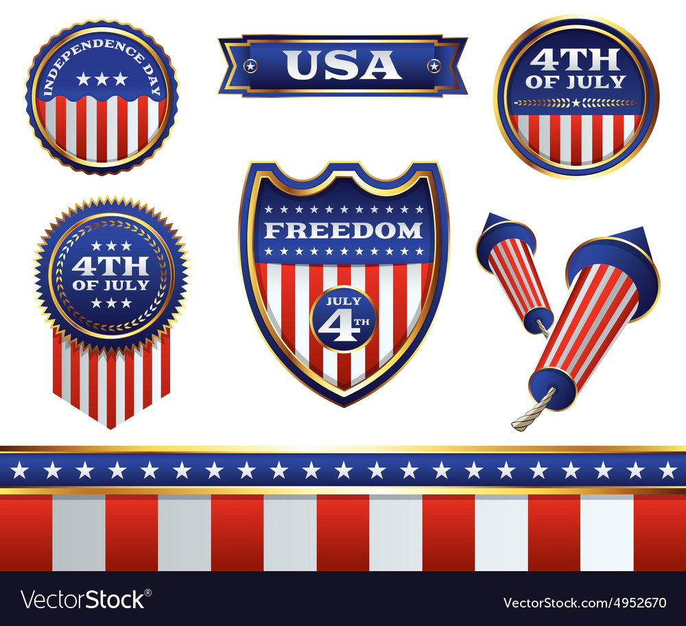 4th july badges
