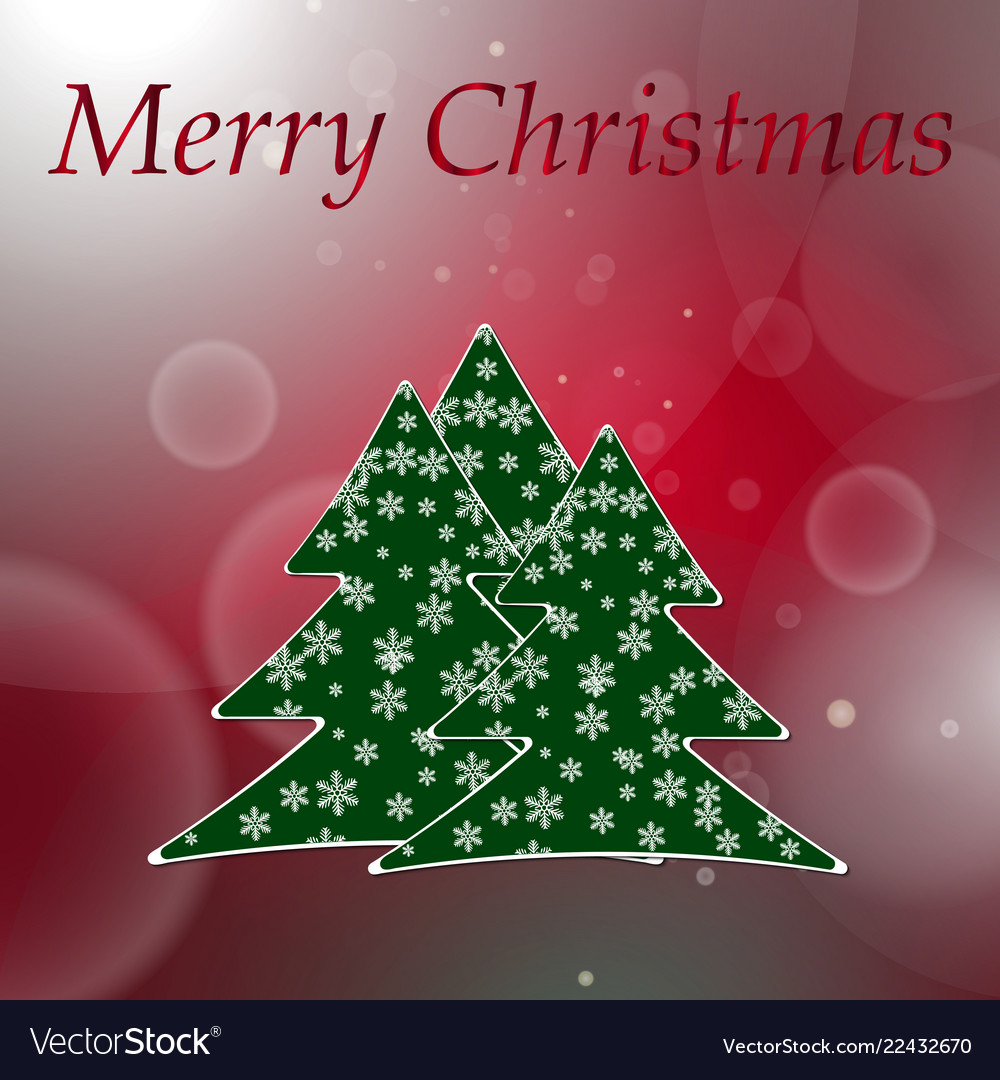 Abstract red round bokeh background with christmas