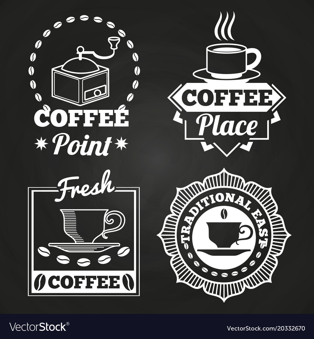 Coffee market shop and cafe label collection on