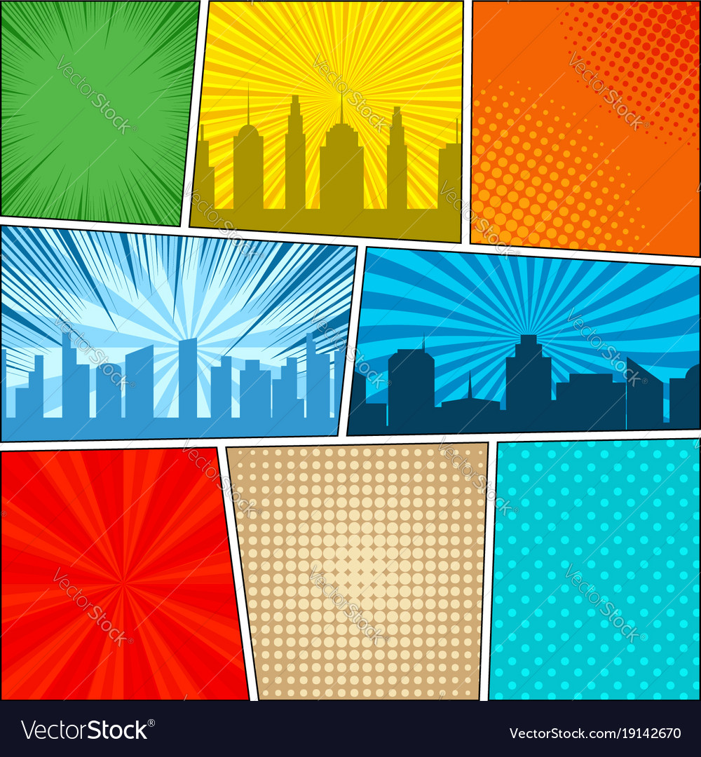 comic book page background royalty free vector image