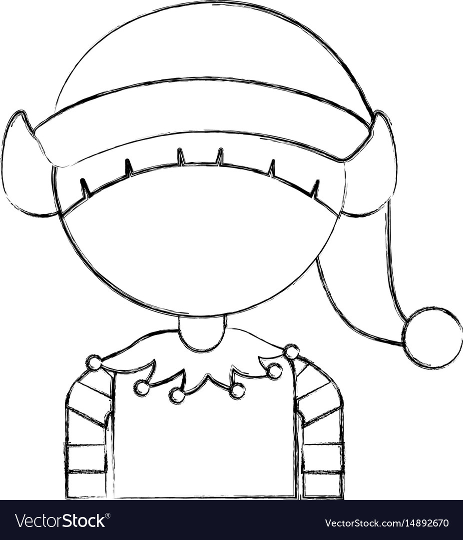 Cute little christmas boy elf
