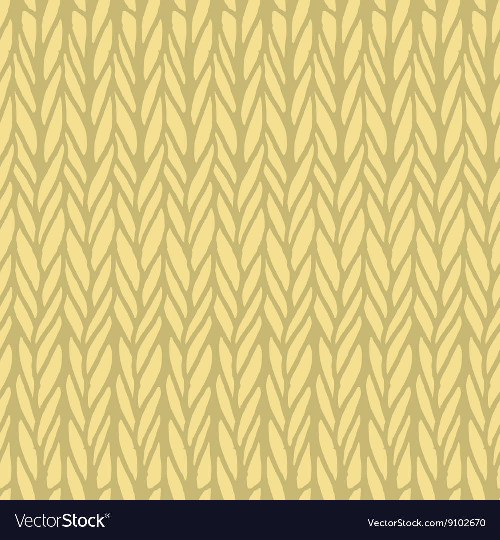 Decorative knitting braids seamless pattern