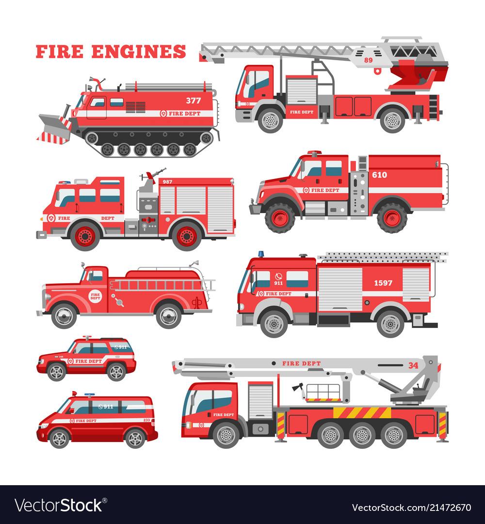 Fire engine firefighting emergency vehicle