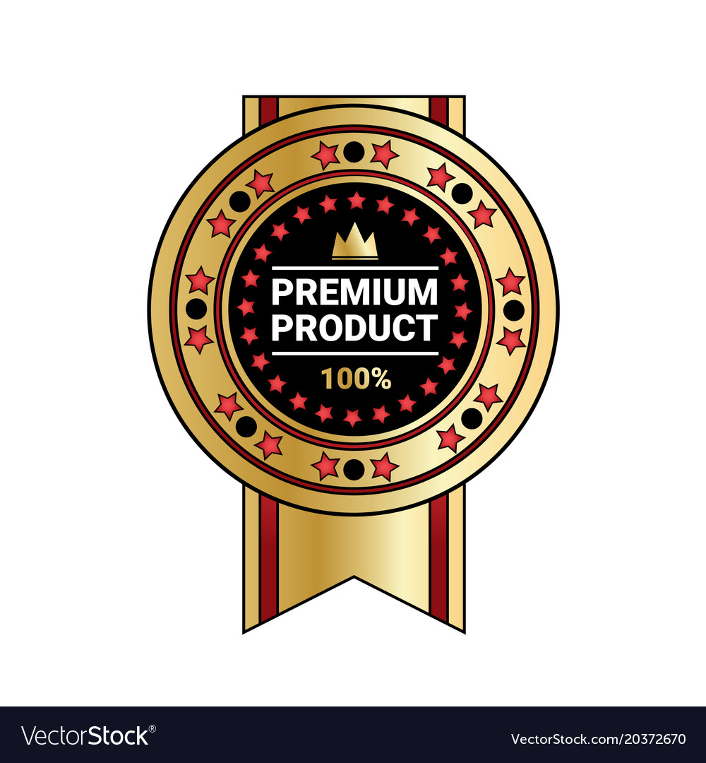 Premium product quality sticker golden medal with