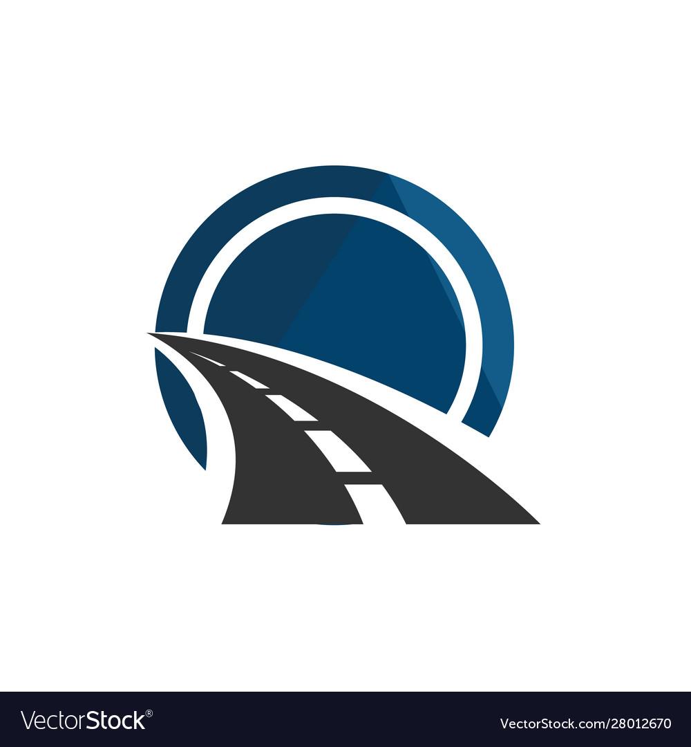 Road Construction Logo Road Maintenance Creative Vector Image