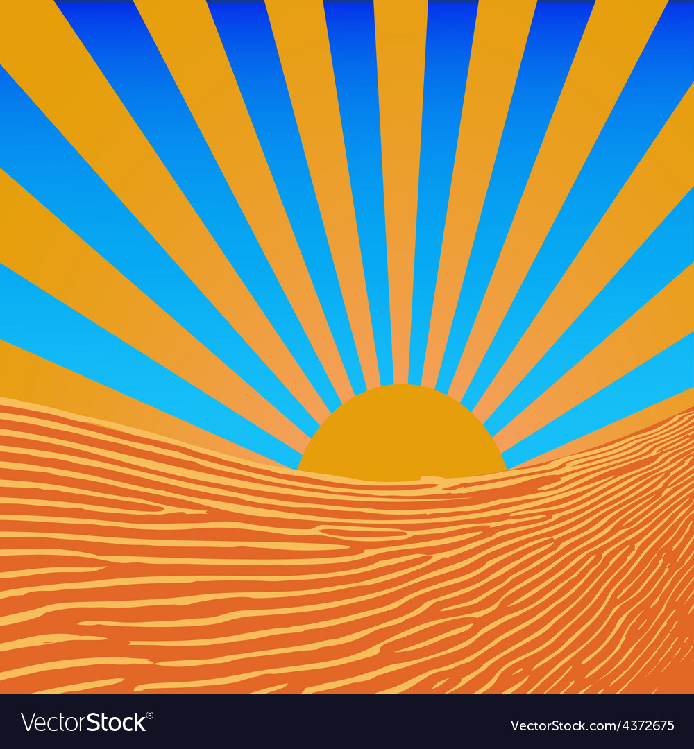 Background sun beams vector image