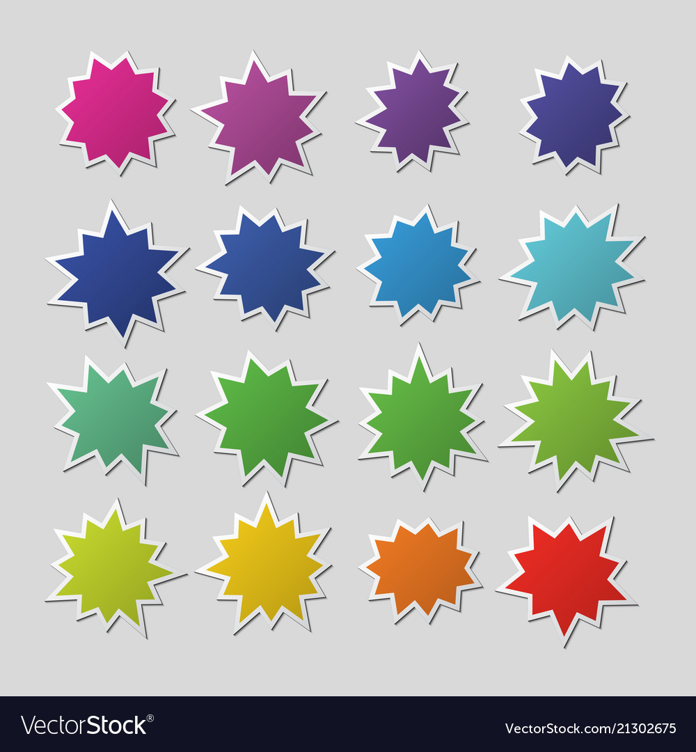 Blank colorful paper starburst balloons explosion