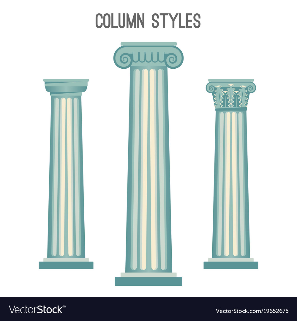 Column styles set from elegant ancient