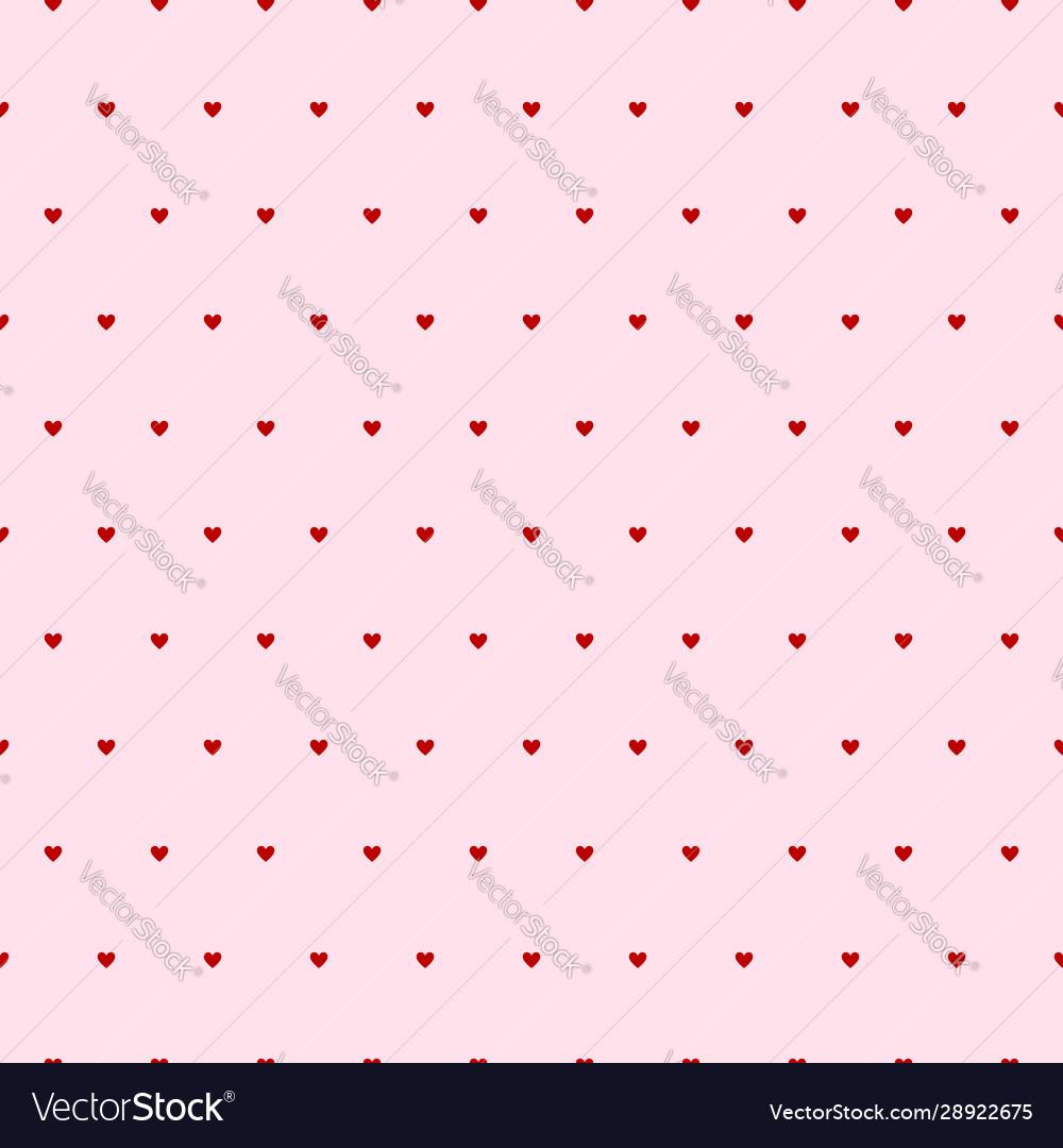 Hearts seamless pattern pink background