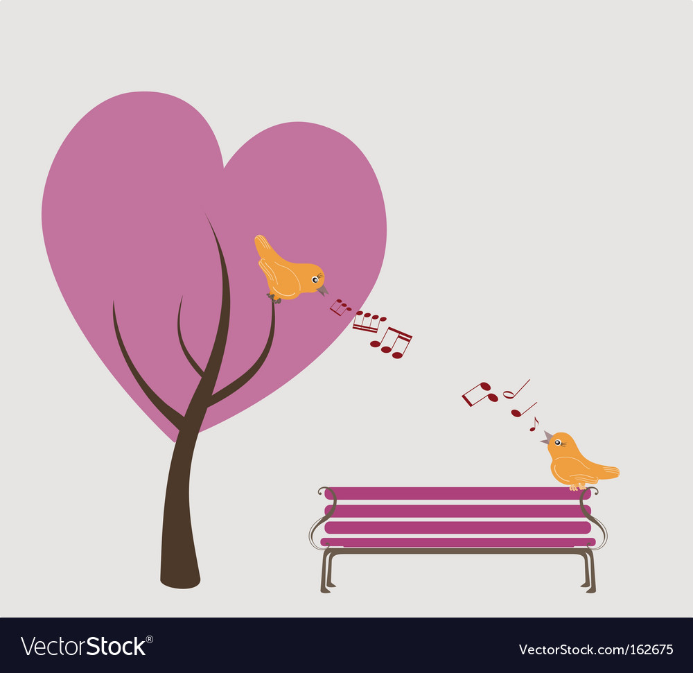 Lovers park vector image