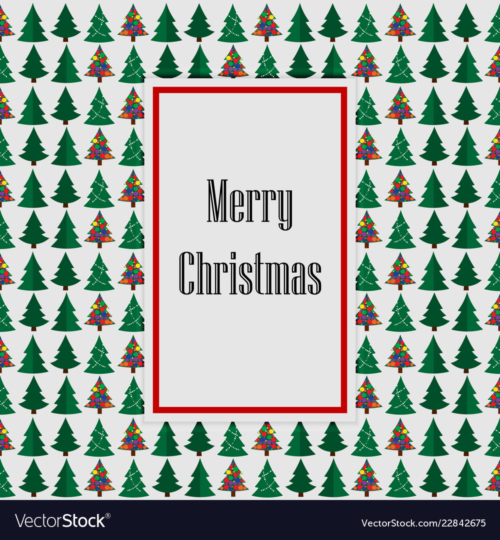 Merry christmas green withe card tree background