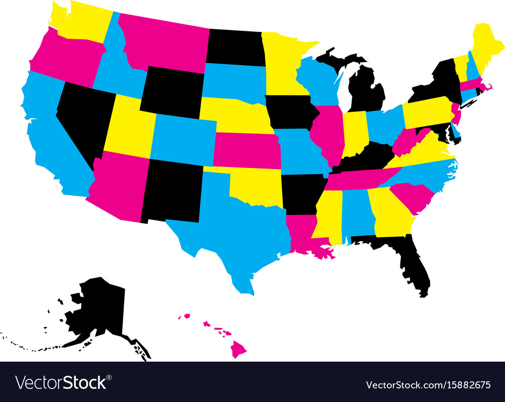 A Political Map Of The United States.Political Map Of Usa United States Of America In Vector Image