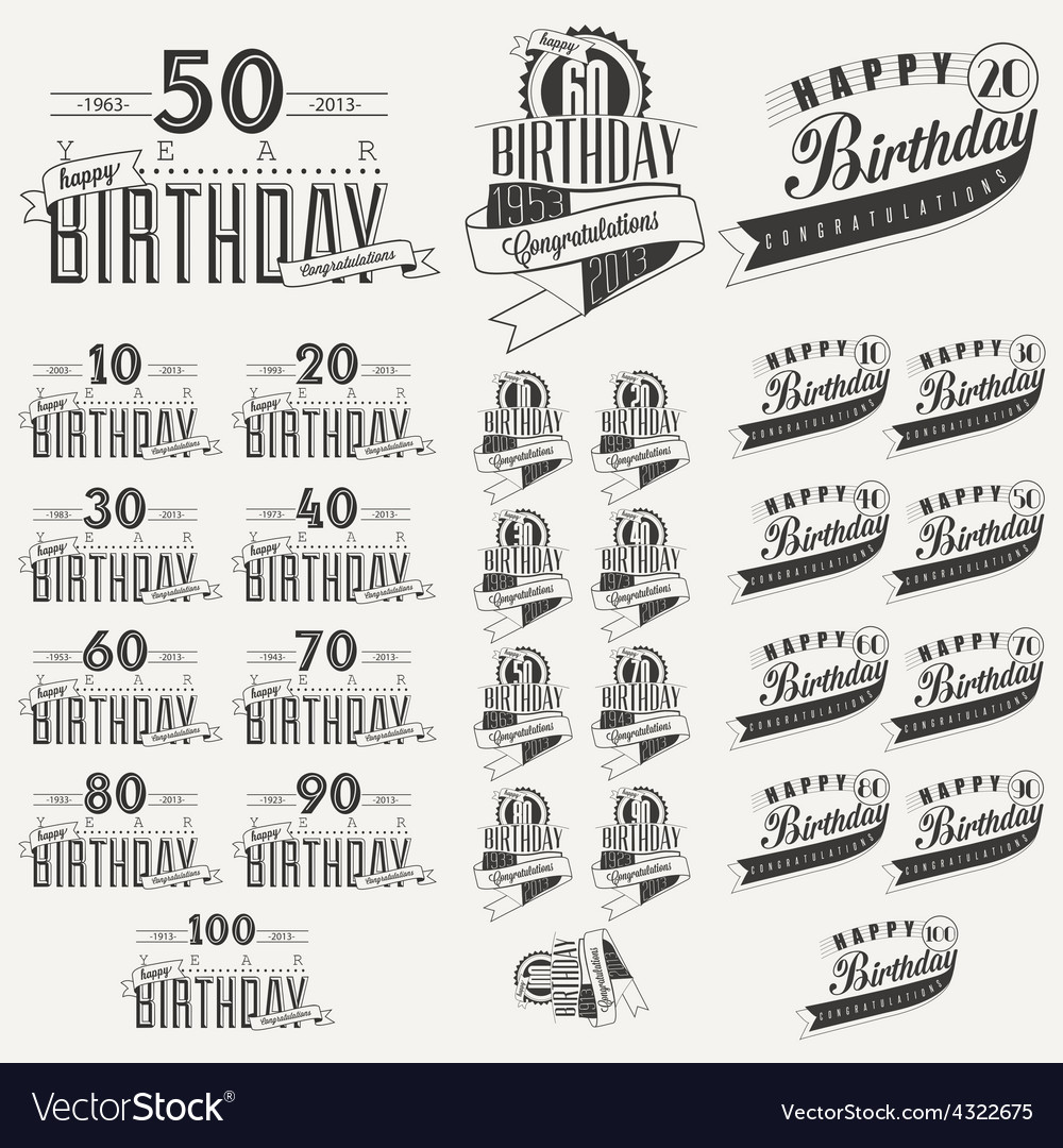 Retro Vintage style Birthday greeting card