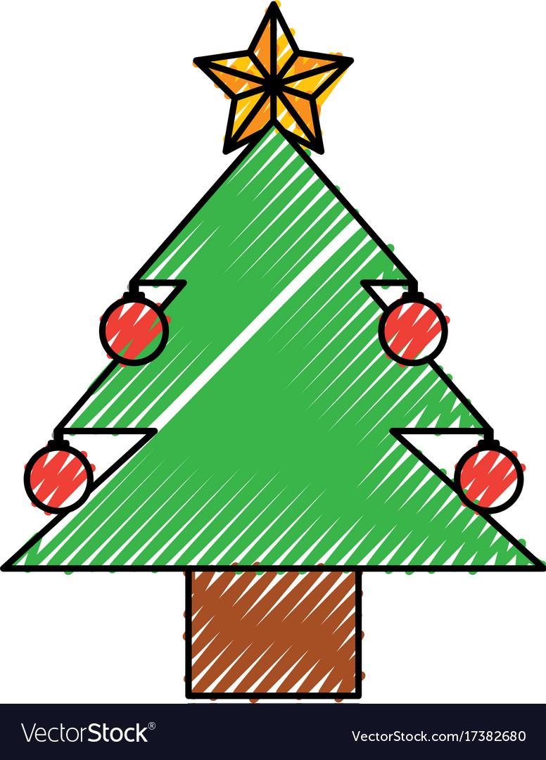 Christmas tree pine ball star decoration