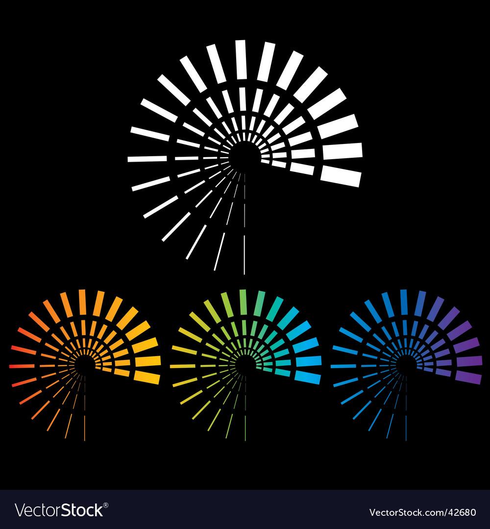 Spirials vector image