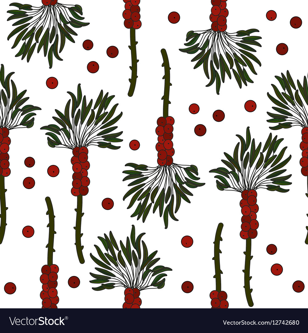 Tropical island seamless pattern vector image