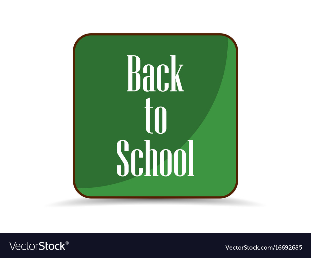 Back to school application icon school board