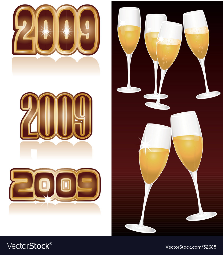 Champagne 2009 vector image