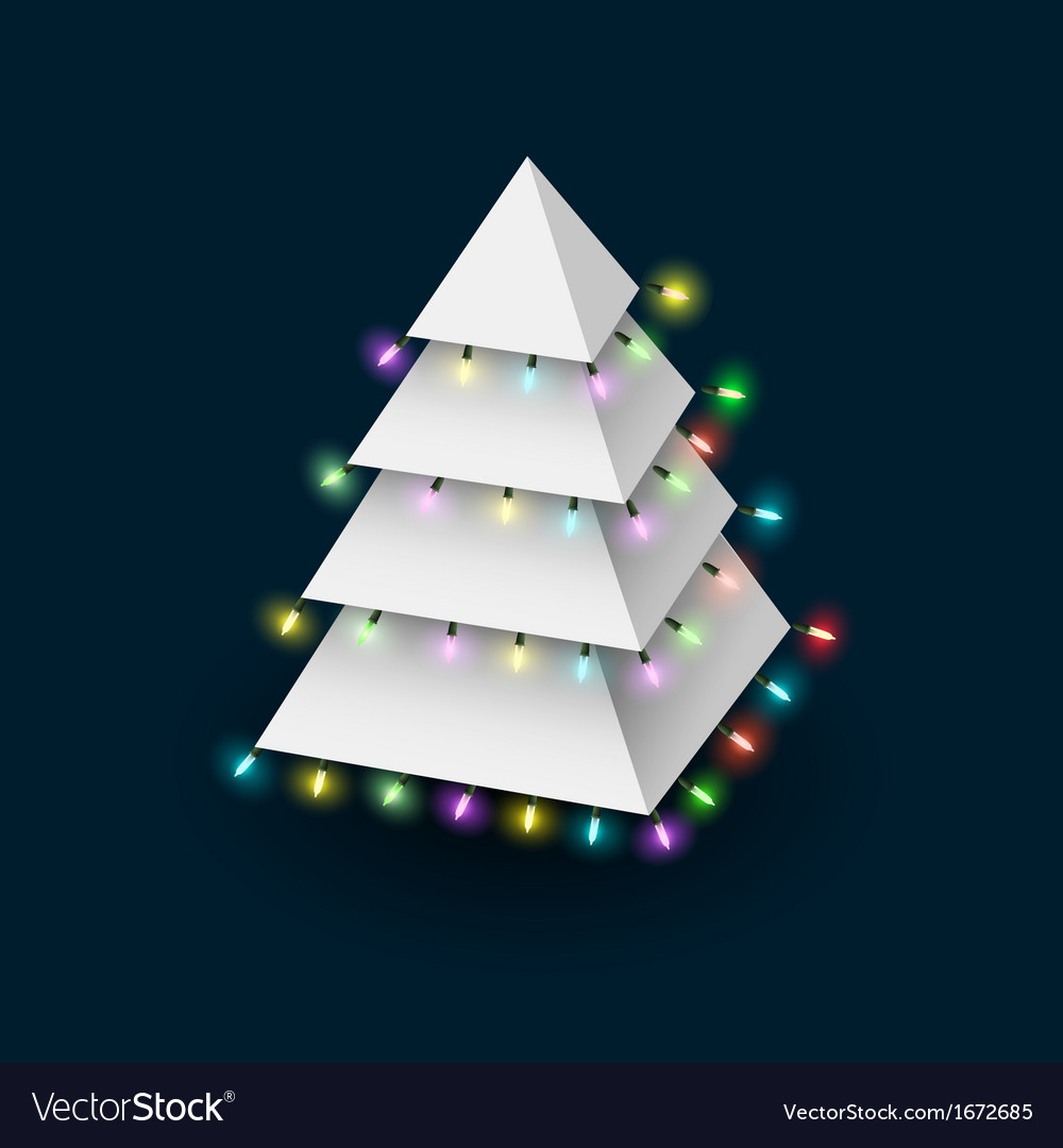 Christmas tree formed pyramide with luminous