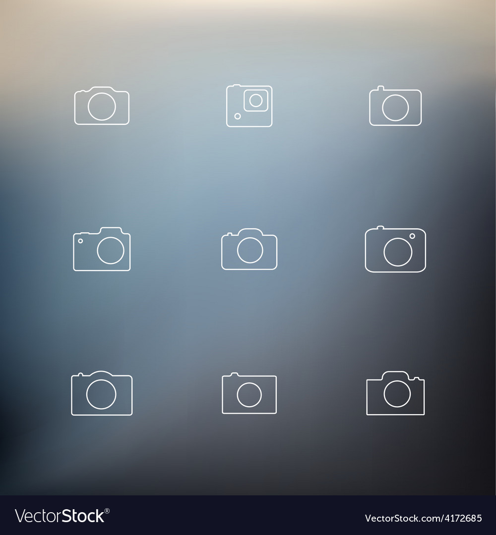 Contour icons cameras