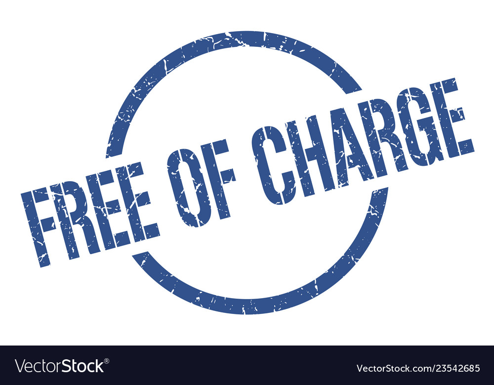Free of charge stamp vector image on VectorStock