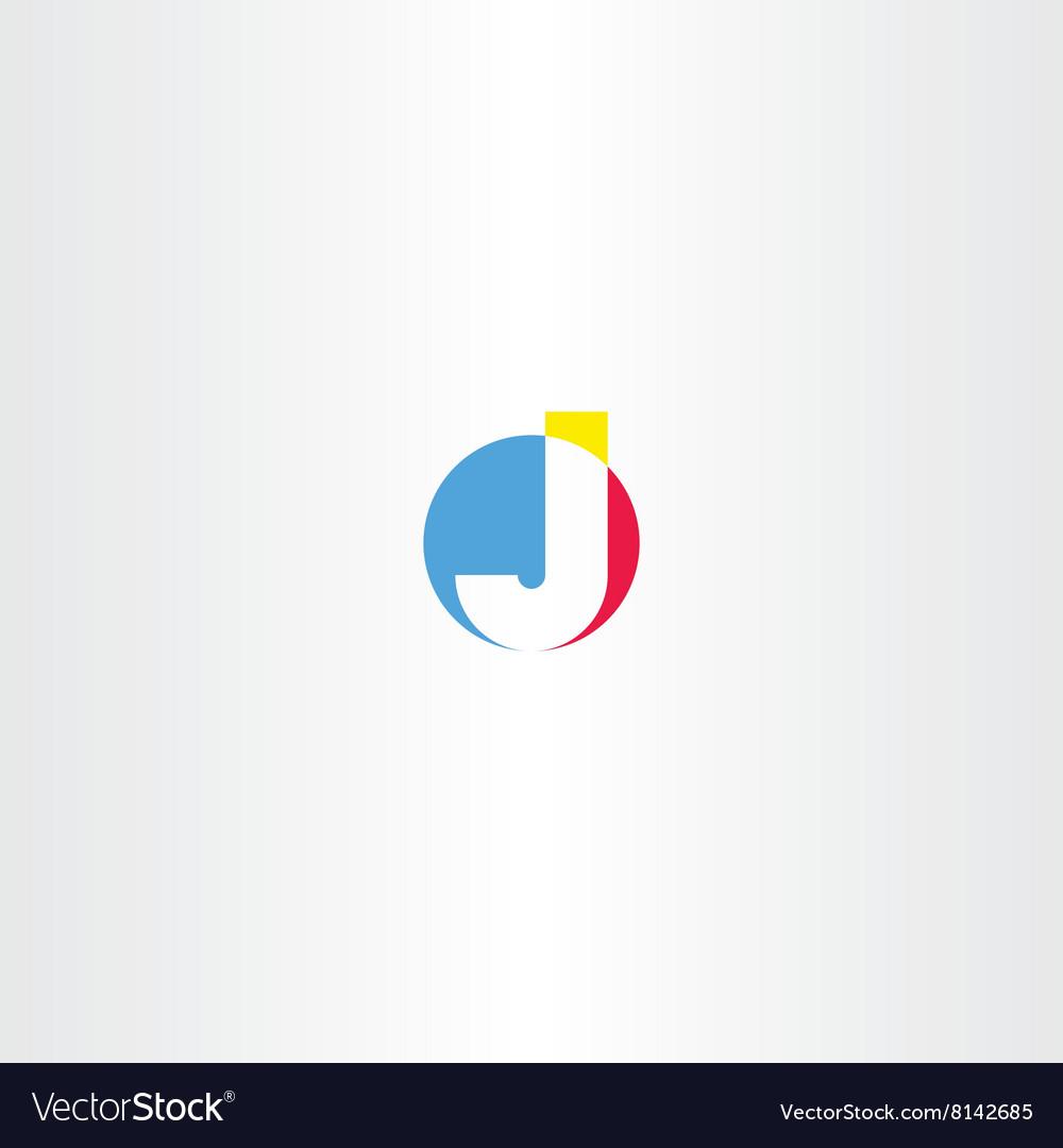 J letter logo j sign icon symbol vector image